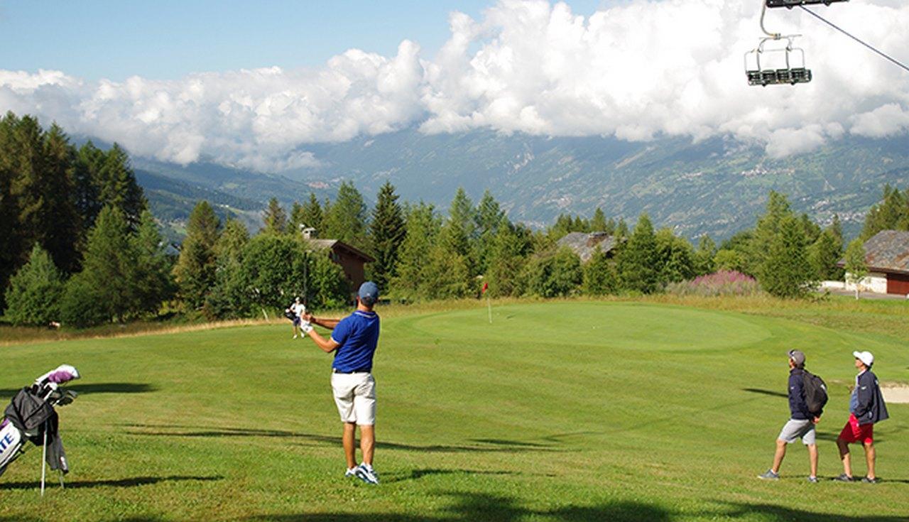 Le golf des arcs en été